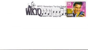 WKYQ Elvis stamp cancellation